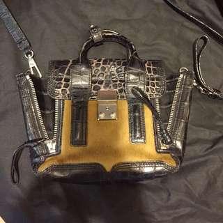 3.1 Phillip Lim Pashli mini textured-leather trapeze bag