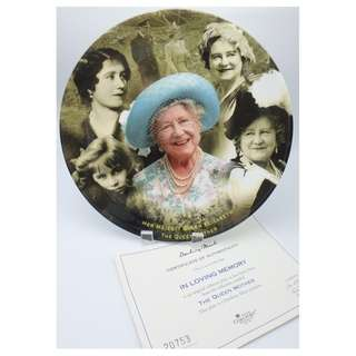 COALPORT ~ THE QUEEN MOTHER - in loving memory 陶瓷碟
