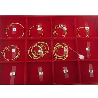 24K gold-plated bangles