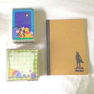 $10 SALE: BN Pooh Bear Booklet Notepad Memo Notes Star Wars Collectible Book (do you see this marked sold? no. then OBVIOUSLY ITS AVAILABLE)