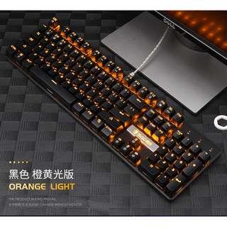 SADES K10 Orange Real Mechanical Gaming Keyboard