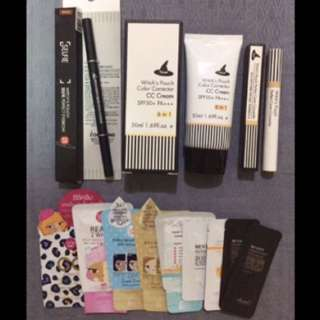 Witch's Pouch Makeup Bundle with Cathy Doll Sachets & Benton Freebies