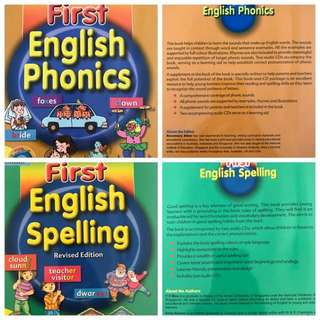 First English Phonics and Spelling with 4 audio CDs set
