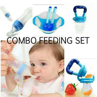 Baby Fruit Feeder + Spoon Feeder + Bowl Set.