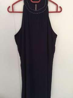 Purple high neck dress