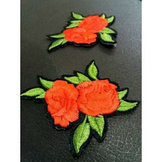 Iron On Rose Patch