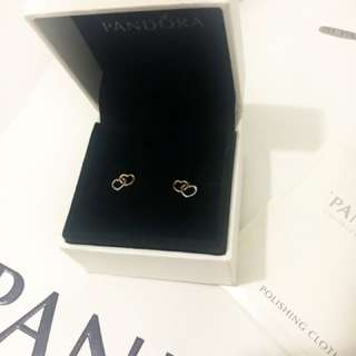 =AUTHENTIC PANDORA= BN Entwined Hearts Earrings