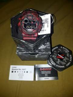 Authentic Gshock Camouflage RED GD-120CM-4