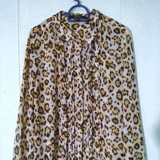 (Promo 9-10 juni) Blouse tiger furr print