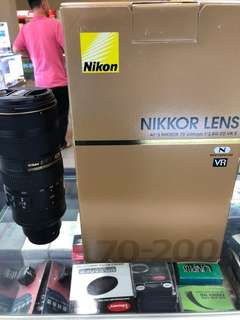 Nikon Lens 70-200 F2.8 NEW