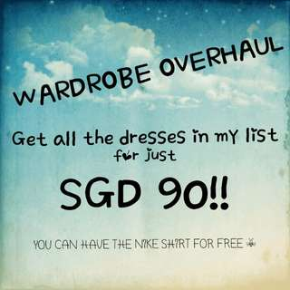 Get all the dresses for $90!!