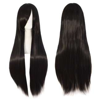 Costume wig cosplay black / brown / silver wig