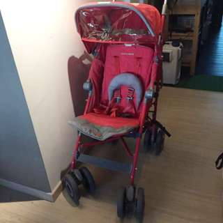 Pink Maclaren Stroller Techno XT With Buggy Board