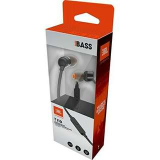 New - JBL T110 In Ear Headphones