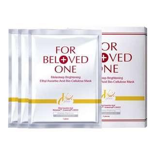 FOR BELOVED ONE Melasleep Whitening Ethyl Ascorbic Acid Boi-Celluslose Mask 3pcs