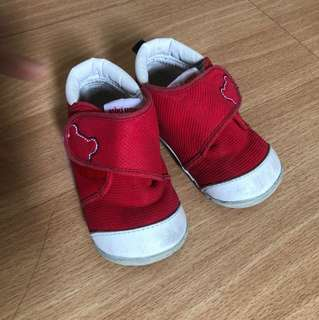 Miki House Baby Shoes 13.5, Red