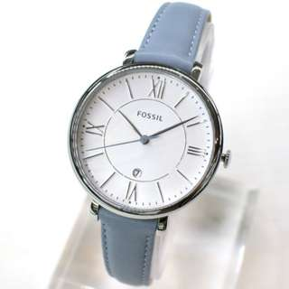 [2 Years Warranty Included] Fossil Watch Women - Blue Leather
