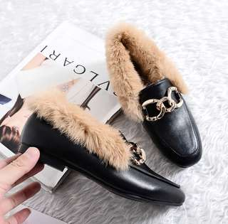 Shoes with fur (34-43)