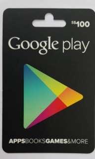 Google Play Card ($100)