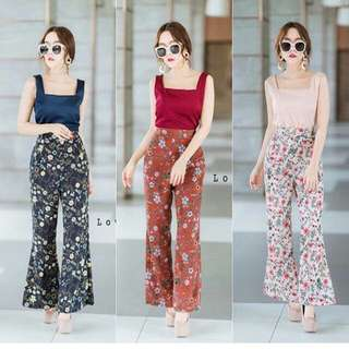Set top and flower pants