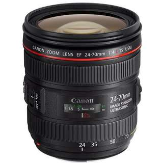 Canon lenses EF 24-70mm f/4L