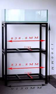 BRAND NEW CUSTOMIZED 3 Tier Fish Tank Rack + CUSTOMIZED Low-Profile Fish Tank