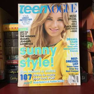 JENNIFER LAWRENCE Teen Vogue