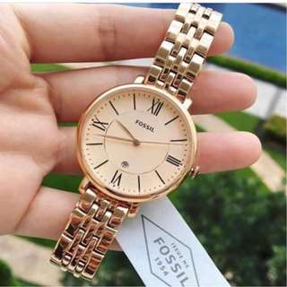 [2 Years Warranty Included] Fossil Watch Women - Rose Gold Watch