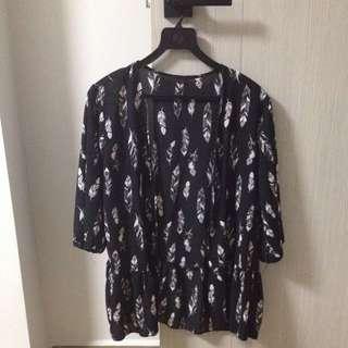 Free size floral kimono jacket