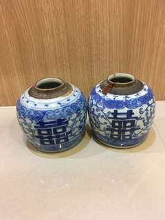 Small Ginger Jar - Chinese Wedding (A pair)