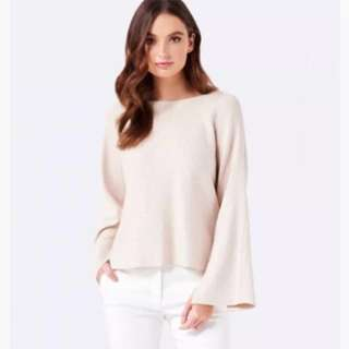 Shimmery bell sleeve knit RRP $100