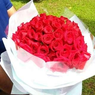 Fresh Roses Bouquet (99 stalks)