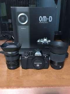 Olympus OMD EM10 Mark 2 + Olympus 12-50mm Macro Lens + Sigma 30mm F1.4 Lens