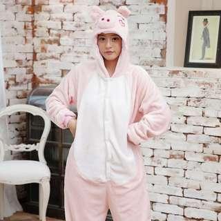 Pink Pig Adult Onesie