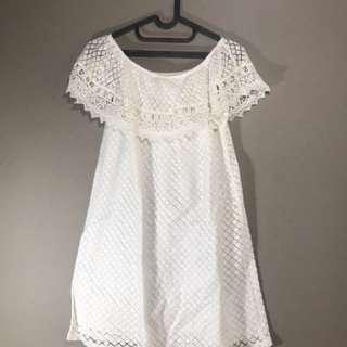 Dress putih Manggo original size S