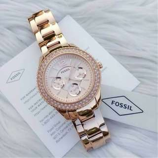 [2 Years Warranty Included] Fossil Watch Women - Rose Gold