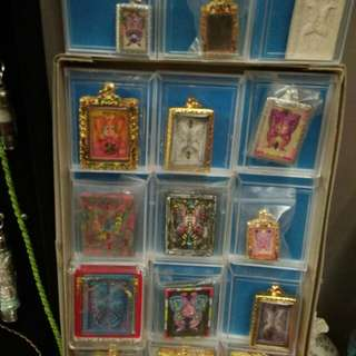 Thai amulets and butterfly for sale.