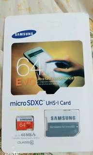 全新 Samsung 三星 64GB Micro SD Card 記憶卡 48MB/s Class 10