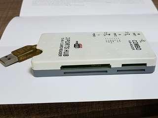 3 port USB hub combo
