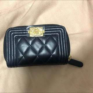 Chanel 100% real 97% new wallet 罕有寶藍色