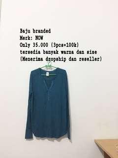 Murah!!baju branded dari pabrik langsung, ambil 3pcs cuma 100k!!banyak ukuran dan warna