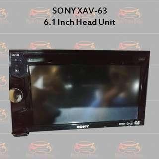 Sony XAV-63 6.1 Inch Double Din Head Unit