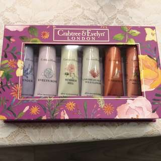 全新 連盒 Crabtree london hand cream set of 6 each 25 gram