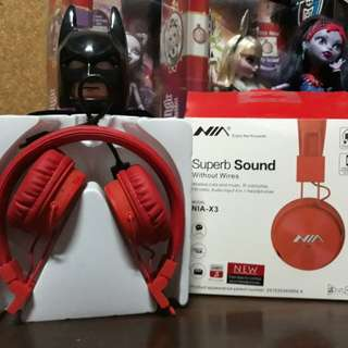 NIA Bluetooth Headset color red sealed brand new