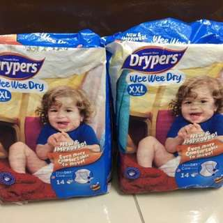 New: Drypers XXL 28 pieces RM 15 (TRAVEL SIZE!)