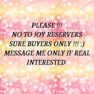 SURE BUYERS PLEASE