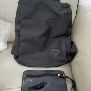 New - trendy haversack bag (plus keyholder n wallet)