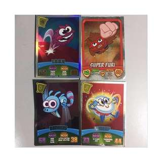 Moshi Monsters cards • playing mat