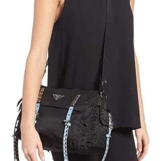 Prada Studded Nylon Bag