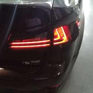 Lexus IS250 latest design tailight